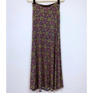 LuLaRoe Maxi Skirt Size XS Aztec Print